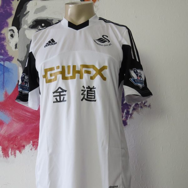 Match worn issue SWANSEA City 2013 2014 EPL home shirt Shelvey 8 (2)