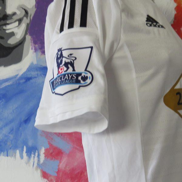 Match worn issue SWANSEA City 2014 2015 home shirt adizero Montero size M (4)