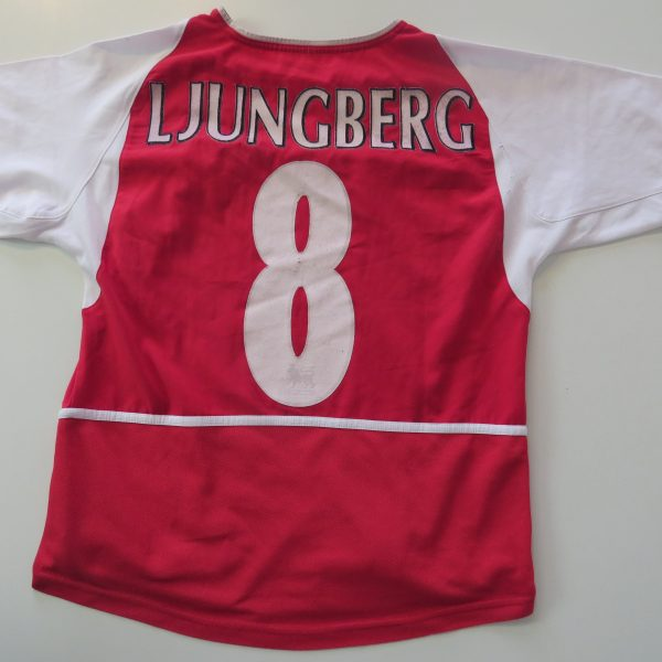 Arsenal 2002 2003 2004 home shirt Nike Ljungberg 8 invincibles size boys L 164 (6)