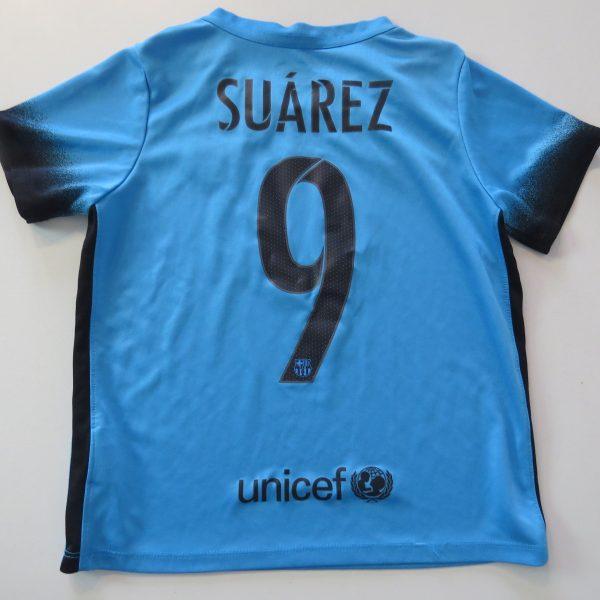 Barcelona 2015 2016 Third Shirt Nike Suarez 9 Size 6-7Y 116-122cm (4)