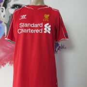 Match worn Liverpool 2014 2015 Champions league home shirt Manquilo 15 (2)