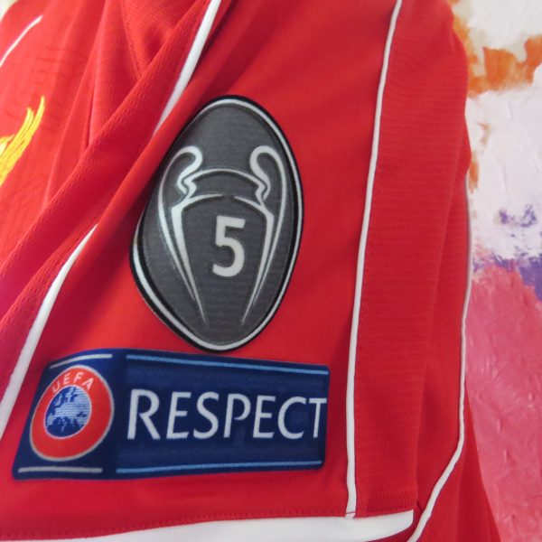 Match worn Liverpool 2014 2015 Champions league home shirt Manquilo 15 (3)