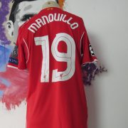 Match worn Liverpool 2014 2015 Champions league home shirt Manquilo 15 (6)