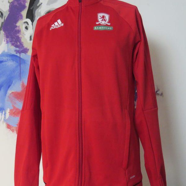 Middlesbrough 2017 2018 track jacket shirt adidas climalite size 15-16Y 176cm (1)
