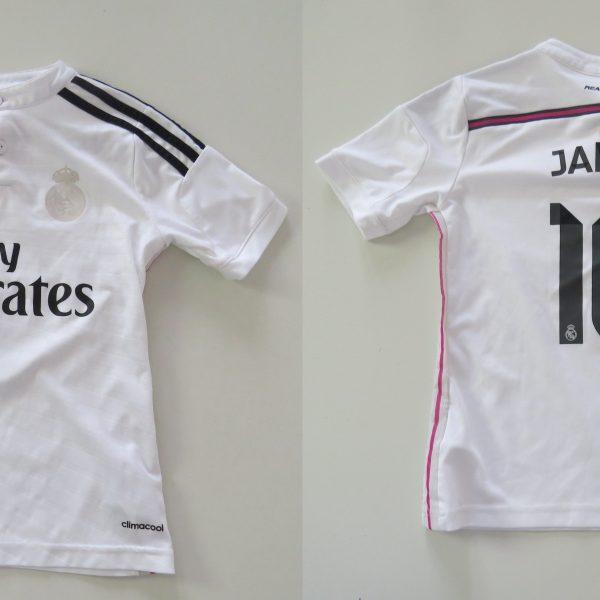 Real Madrid 2014 2015 home shirt adidas Boys S 9-10Y 140cm James 10