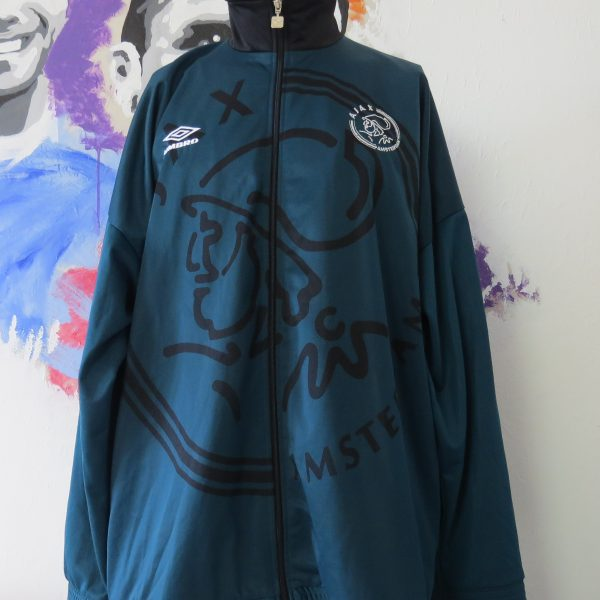 Vintage Ajax 1995 1996 green training track jacket Umbro size XXL (1)