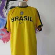 Vintage Brazil 1998 training shirt NIKE Brasil soccer jersey size M (1)