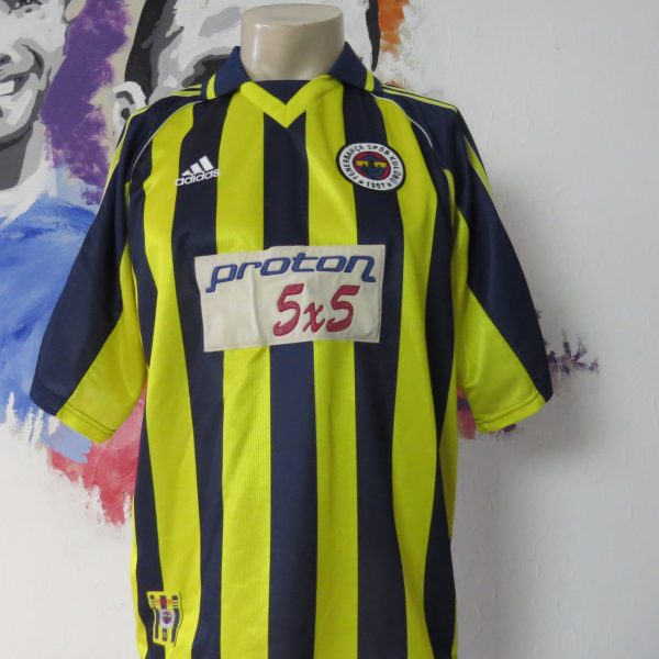 Vintage Fenerbahce 1999 2000 home shirt adidas soccer jersey size M (1)