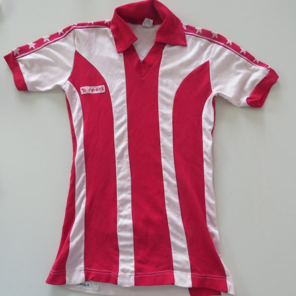 Vintage sport 1970ies 1980ies white red football shirt size boys L 12Y (1)