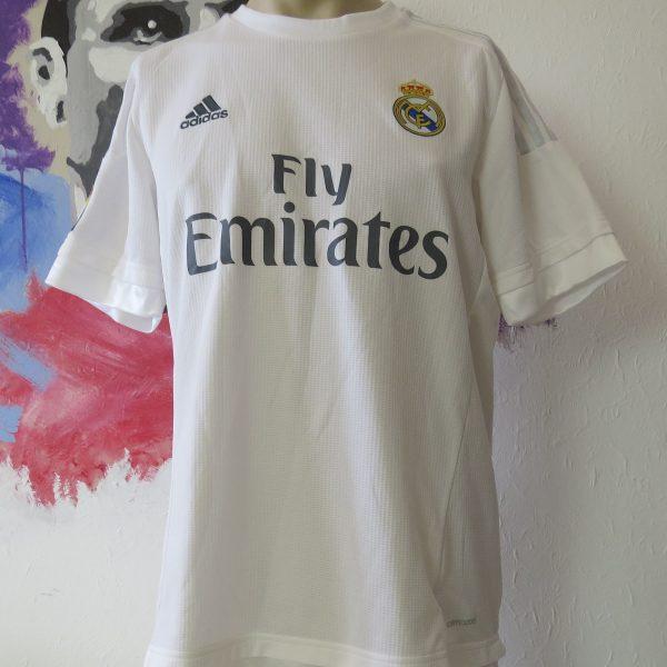 Real Madrid 2015 2016 LFP ls home football shirt adidas jersey size L (1)