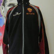 Vintage AS Roma 1998 1999 track jacket Diadora training size S UK34 IT44+ (1)