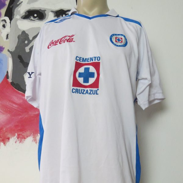 Vintage Cruz Azul 2007 away shirt Umbro jersey #75 size L Mexico (1)