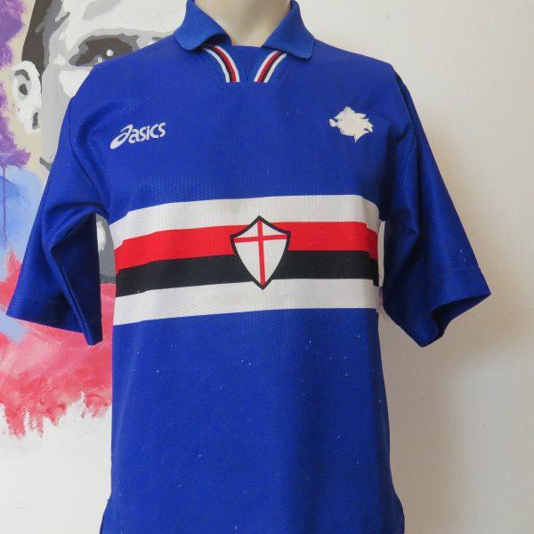 Vintage Sampdoria 1996 1997 home shirt Asics football maglia size S (1)