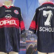 Bayern Munchen 1997 1998 1999 home shirt adidas munich Scholl 7 size XL (1)