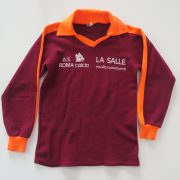 Vintage AS Roma 1980ies acrylic supporters shirt size Boys M 10Y (1)