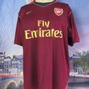 Arsenal 2007 2008 purple training pre match shirt Nike football top size size XL (1)