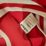 Vintage Adidas 1990ies red German ls amateur team football shirt #8 size L (3)