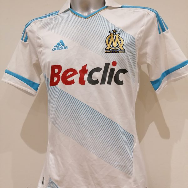 Olympique Marseille 2011 20131 home shirt adidas soccer jersey size S+ (1)