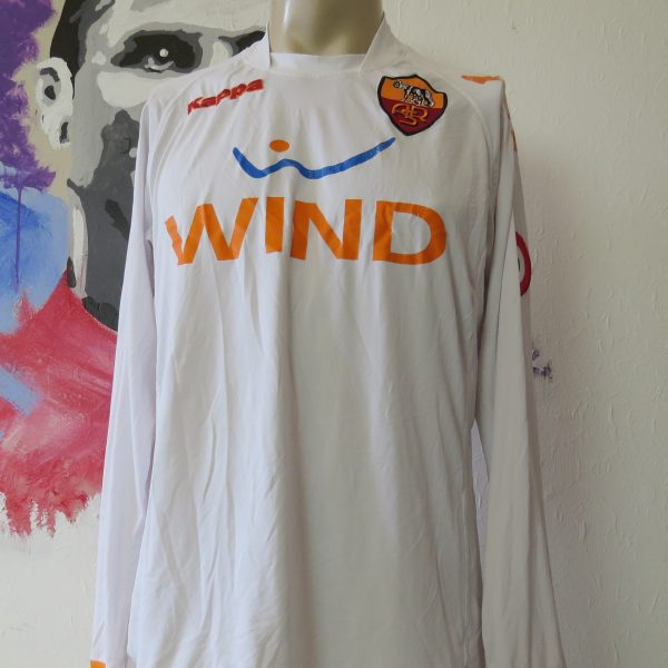 Vintage AS Roma 2008 2009 ls away shirt Kappa Gara tight fitting size XL (1)