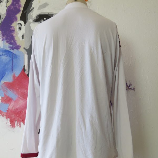 Vintage AS Roma 2008 2009 ls away shirt Kappa Gara tight fitting size XL (2)