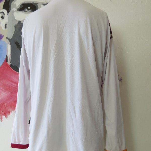 Vintage AS Roma 2008 2009 ls away shirt Kappa Gara tight fitting size XL (5)