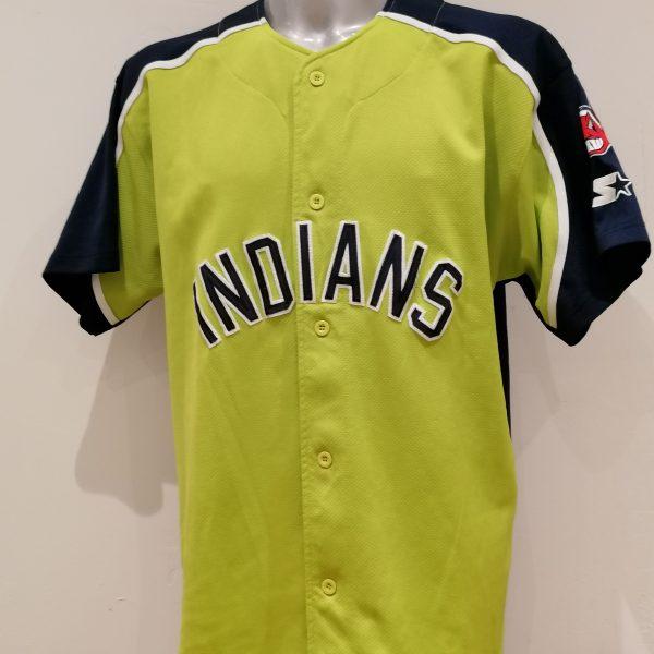 Vintage Cleveland Indians baseball jersey Starter shirt size XL (1)