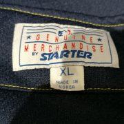 Vintage Cleveland Indians baseball jersey Starter shirt size XL (3)