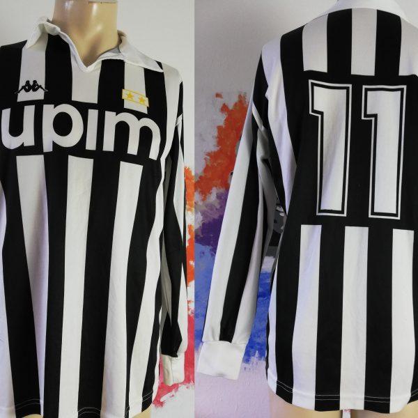 Vintage Juventus 1989 1990 home shirt Kappa jersey 11 Schillaci size S ultra rare (2)