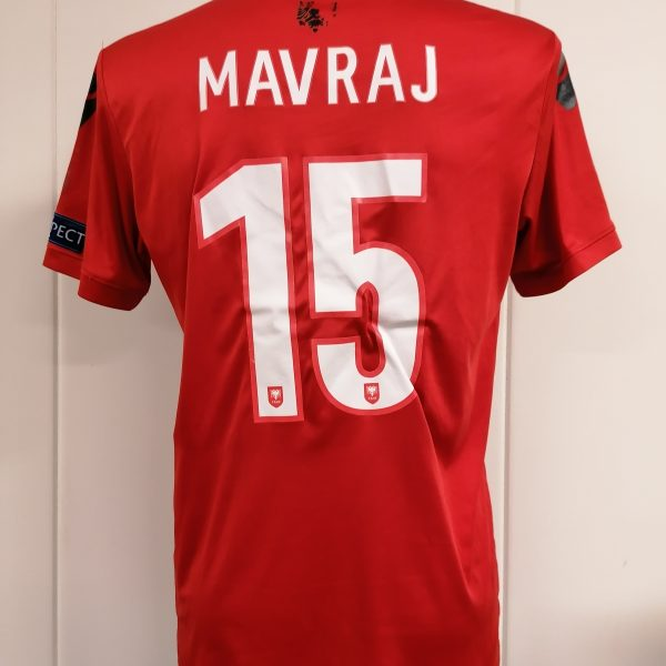 Albania 2016 2017 home shirt Macron Mavraj 15 trikot jersey size M (6)