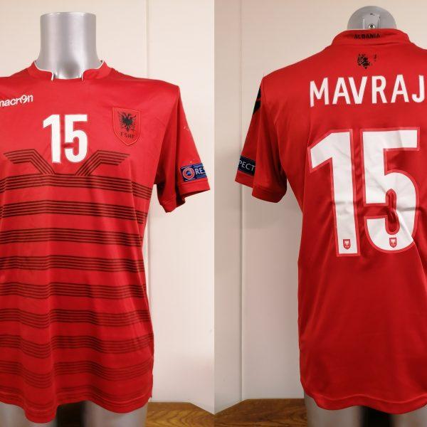 Albania 2016 2017 home shirt Macron Mavraj 15 trikot jersey size M