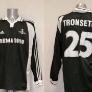 Match worn issue Rosenborg BK 2000 Champions league away shirt Tronseth 25