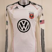 Player issue DC United 2010 2011 ls MLS Adidas Techfit away shirt size L soccer jersey (1)