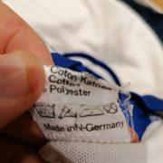 Vintage Adidas 1970ies 80ies white German amateur team football shirt #9 size M (3)