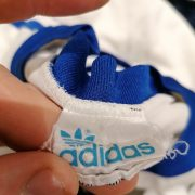 Vintage Adidas 1970ies 80ies white German amateur team football shirt #9 size M (4)