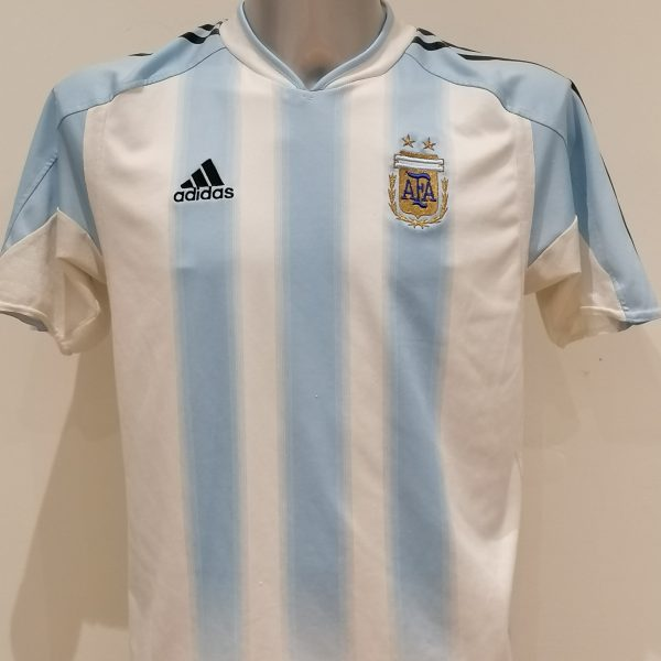 Vintage Argentina 2004 2005 home shirt adidas size 34 36 176 boys XL (1)