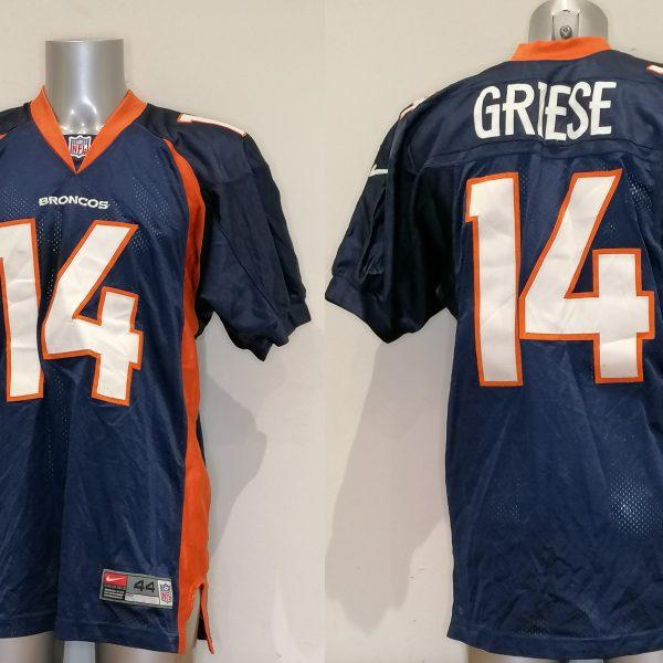 Vintage Denver Broncos jersey NFL 1990ies Brian Griese 14 shirt size 44 L (4)