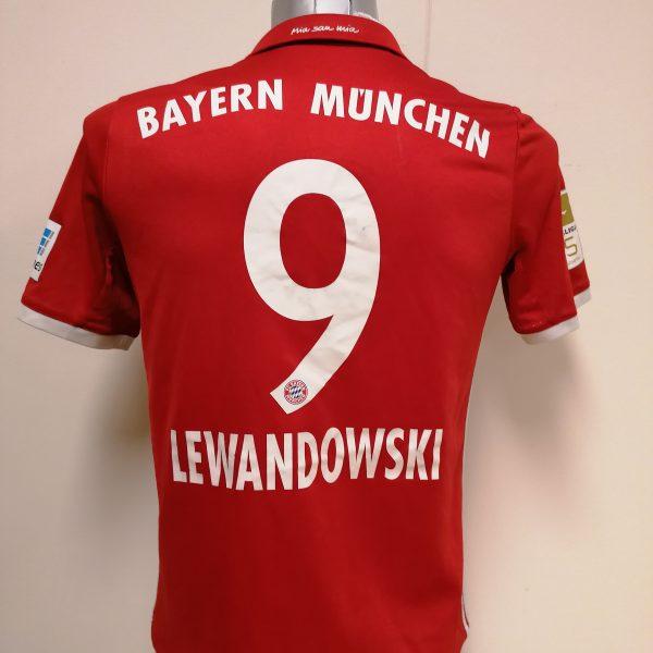Bayern Munchen 2016 2017 home shirt adidas Lewandowski 9 Boys XL 1516Y 176 (1)