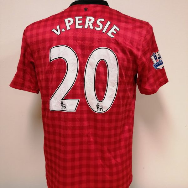 Manchester United 2012 2013 EPL home Nike football shirt Van Persie #20 size M (2)