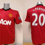 Manchester United 2012 2013 EPL home Nike football shirt Van Persie #20 size M (5)
