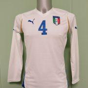 Player issue Italy ladies ca 2008 away shirt Puma soccer jersey #4 EU38 UK12 M (1)