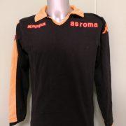 Vintage AS Roma 2008 ls black polo shirt kappa soccer jersey size M (1)