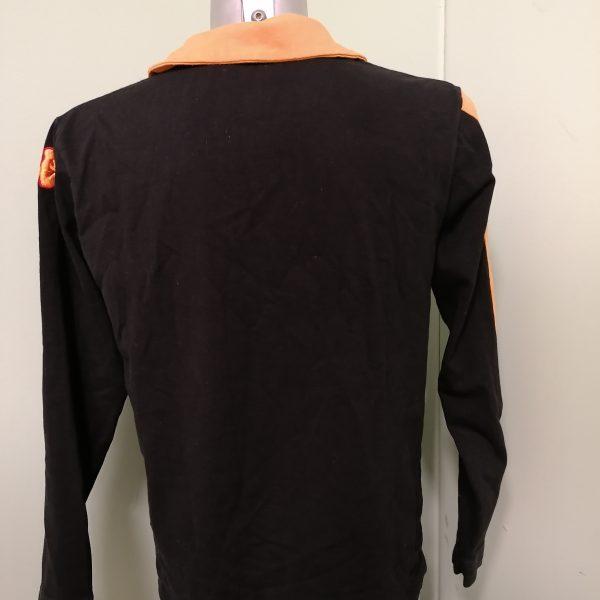 Vintage AS Roma 2008 ls black polo shirt kappa soccer jersey size M (2)
