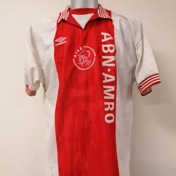 Vintage Ajax 1996 1997 home shirt Umbro football top size L (1)