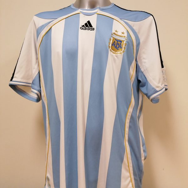 Vintage Argentina 2005 World Cup 2006 2007 home shirt adidas size XL (1)