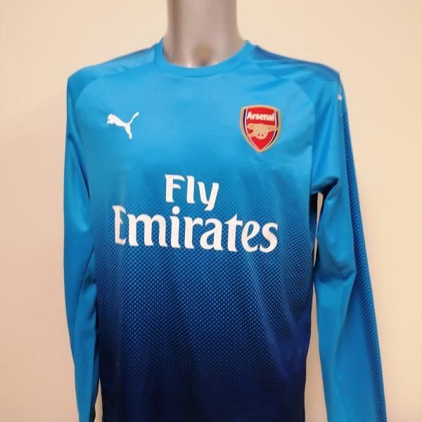 Vintage Arsenal blue Puma 2017 2018 training football top ls shirt size L (1)