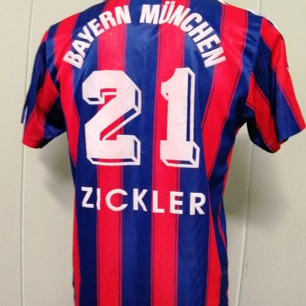Vintage Bayern Munchen 1995 1996 1997 Home shirt adidas Zickler 21 size S (3)