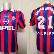 Vintage Bayern Munchen 1995 1996 1997 Home shirt adidas Zickler 21 size S (4)