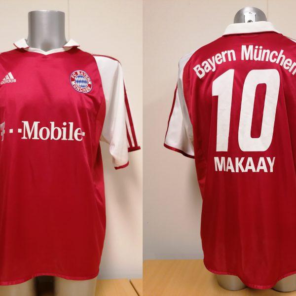 Vintage Bayern Munchen 2003 2004 home shirt adidas top Makaay 10 size L