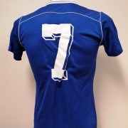Vintage Erima 1970ies blue football shirt #7 size M (3)