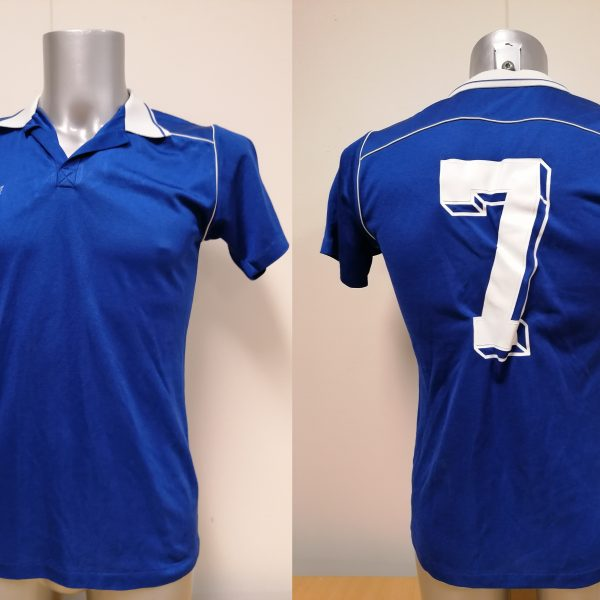 Vintage Erima 1970ies blue football shirt #7 size M